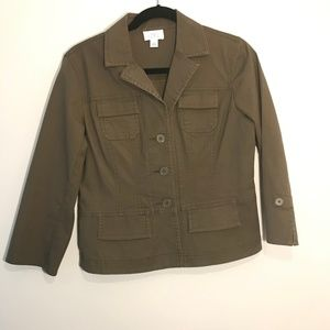 Ann Taylor Loft | Button up Brown Jacket
